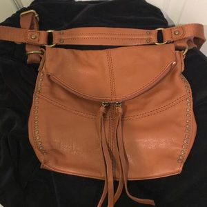 The Sak crossbody leather tan purse